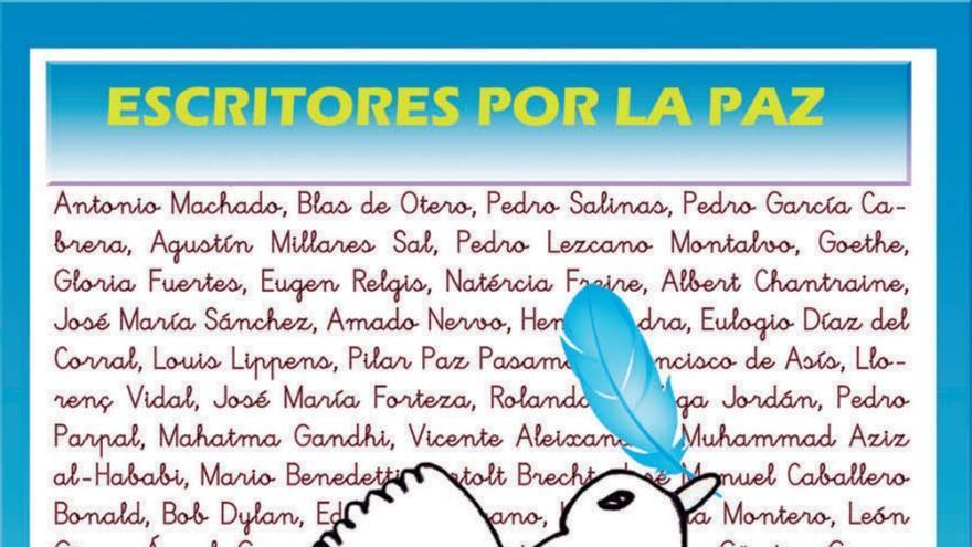 Cartel del 'Día Escolar por la Paz' organizado por las Escuelas Unitarias de la Zona Este.