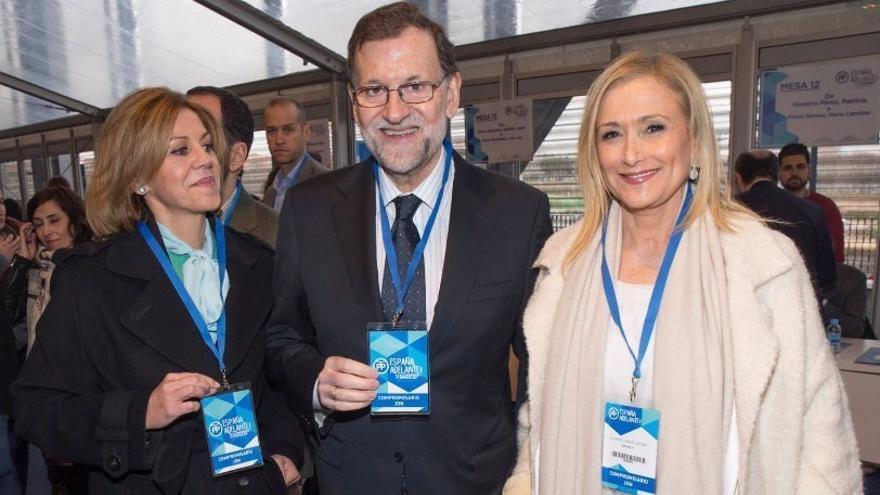 Cospedal, Rajoy y Cifuentes, en el XVIII Congreso Nacional del PP