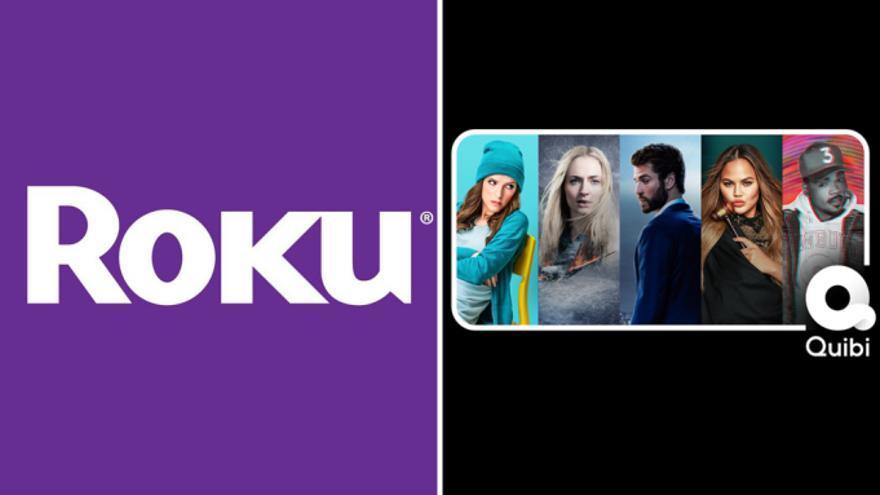 Los logos de Roku y Quibi