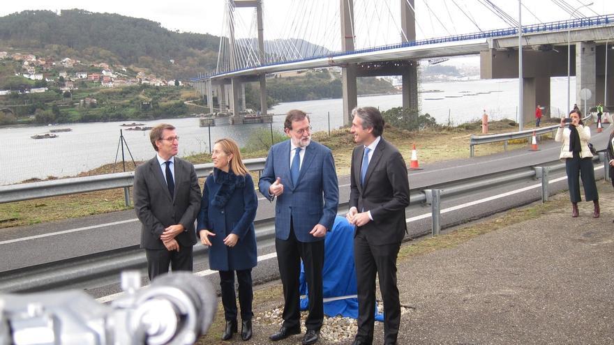 Rajoy inaugura la ampliación de la AP-9 en Rande, que costó 191 millones, y promete estudiar el peaje de Redondela