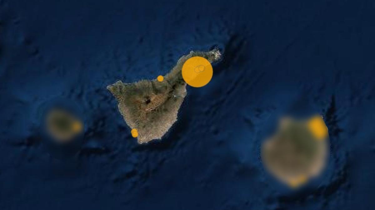Mapa de capacidad asistencial en Tenerife