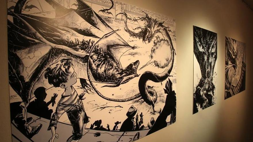 Ilustraciones del argentino Max Fiumara se exponen en un festival en Bolivia