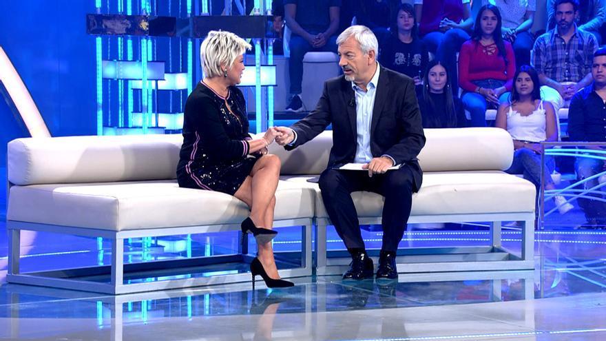 Terelu Campos con Sobera en 'Volverte a ver'