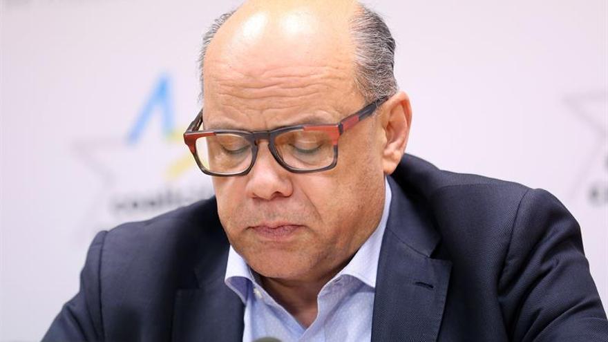 José Miguel Barragán, secretario general de CC, este viernes en Santa Cruz de Tenerife