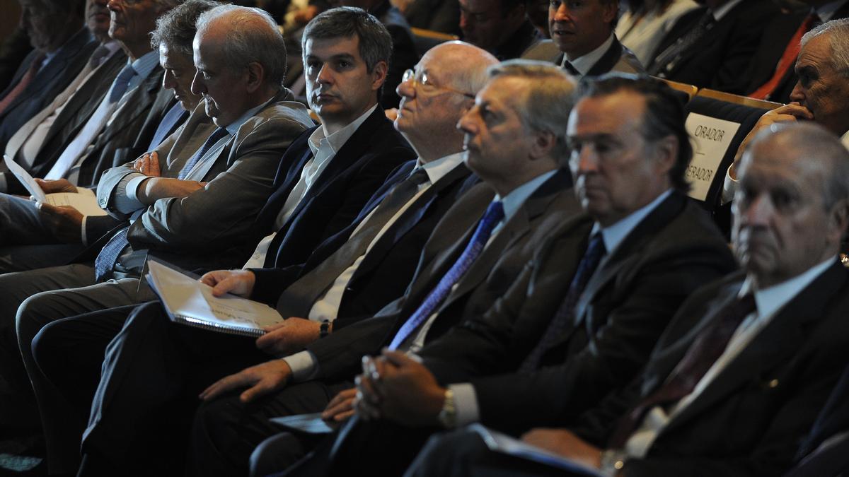 Una reunión de la Asociación Empresaria Argentina (AEA), que reúne a los principales hombres negocios del país, en 2016.