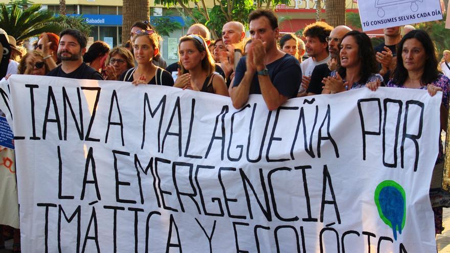 Manifestación por el clima en Málaga