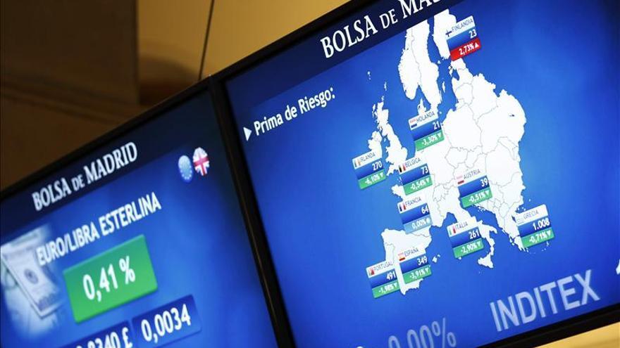 La prima de riesgo de España baja a 351 puntos básicos en la apertura