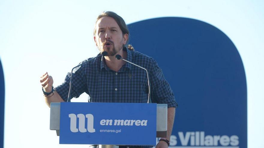 Pablo Iglesias, en el mitin de Vigo. Foto: Twitter Podemos