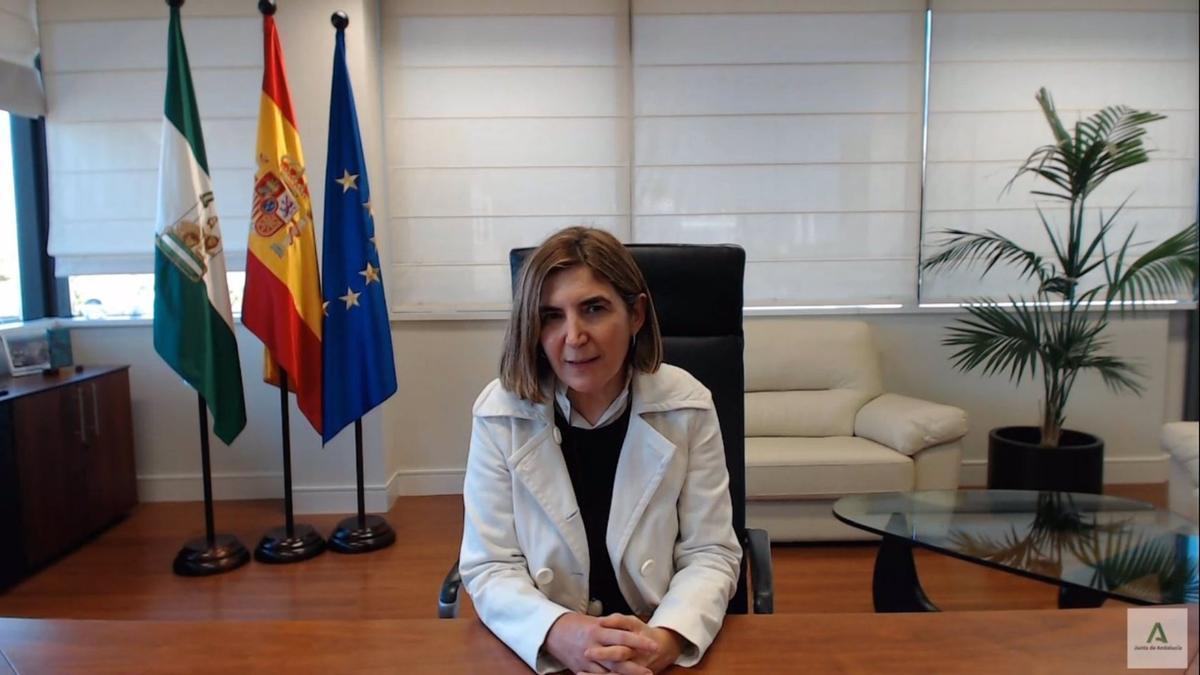 La consejera de Empleo, Formación y Trabajo Autónomo de la Junta de Andalucía, Rocío Blanco, en una foto de archivo.