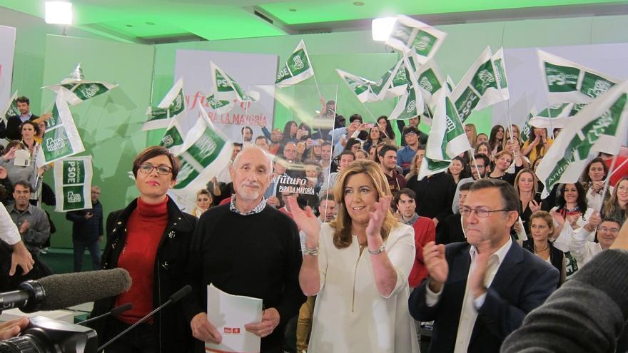 Susana Díaz dice que los socialistas andaluces llevarán a Pedro Sánchez a la Moncloa