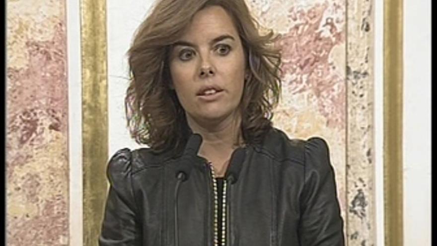 Sáenz de Santamaría critica a Coalición Canaria