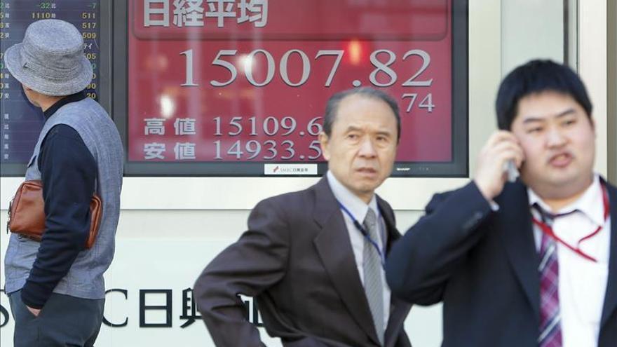 El Nikkei sube un 0,83 por ciento hasta los 15.130,93 puntos