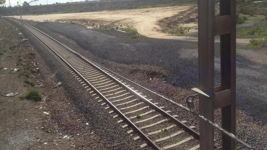 Zona de expropiación para la nueva estación de Huelva, proyectada para recibir el AVE.