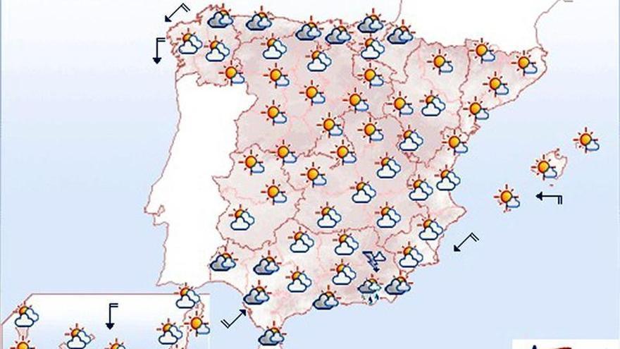 Hoy, fuertes chubascos en Pirineos, Sistema Ibérico y Andalucía oriental