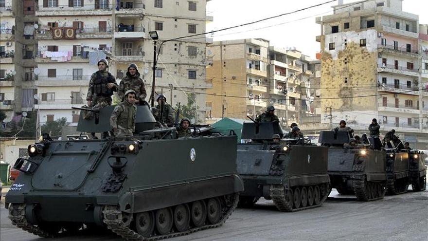 El Ejército libanés refuerza posiciones en la zona fronteriza tras el bombardeo sirio