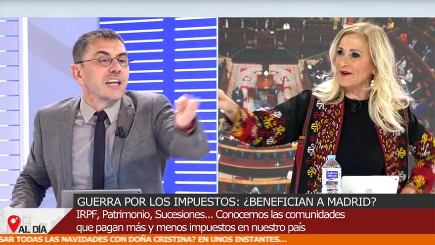 Discusión entre Monedero y Cristina Cifuentes en 'Cuatro al día'