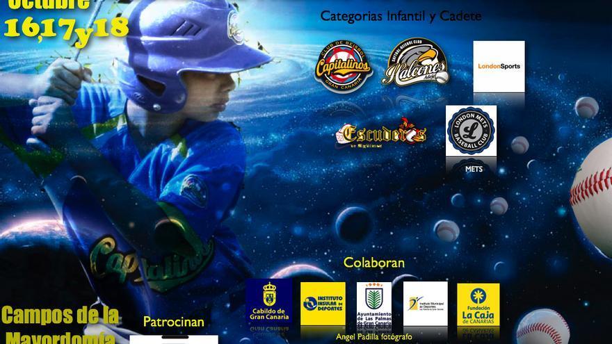 Cartel del I Torneo Internacional de Béisbol de Las Palmas de Gran Canaria.