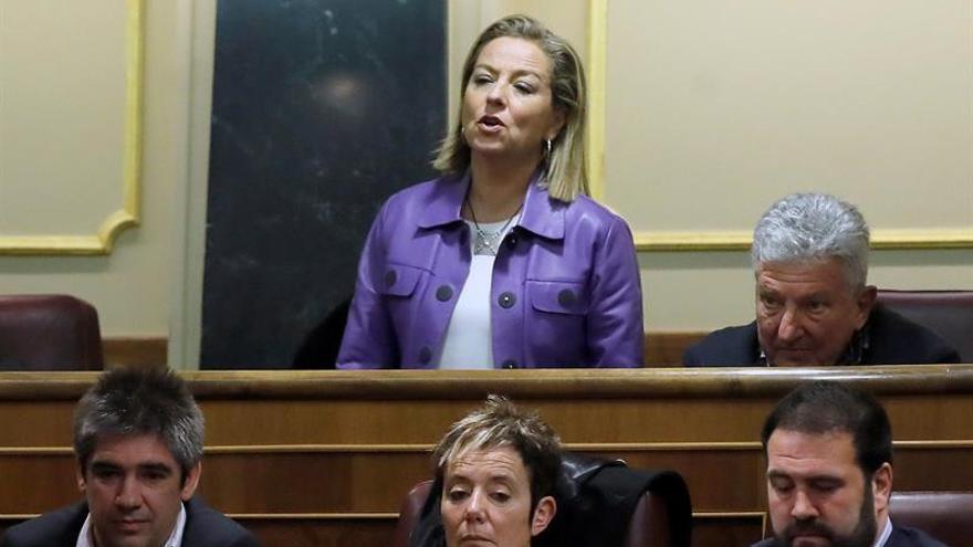 Ana Oramas, diputada de Coalición Canaria, vota 'No' durante la segunda jornada del debate de investidura de Pedro Sánchez como presidente del Gobierno en el Congreso de los Diputados.