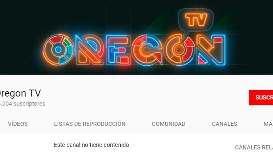 Pantallazo del canal de YouTube de Oregón Televisión.