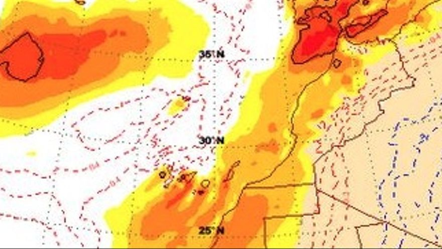 Anomalías térmicas para el domingo 24 de mayo