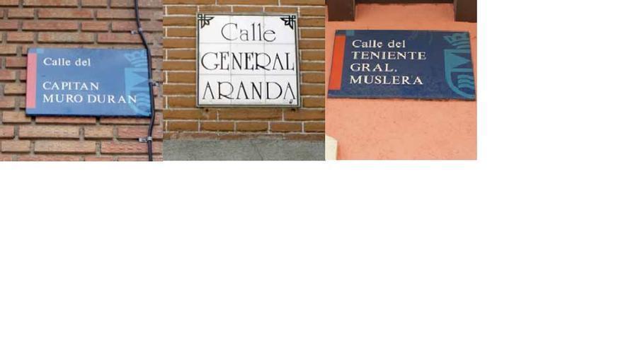 Las calles de Leganés que rinden homenajes a militares franquistas.
