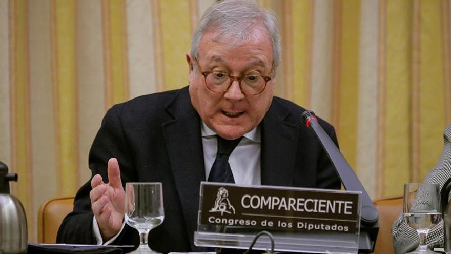 Ramón Luis Valcárcel durante una comparecencia en el Congreso de los Diputados