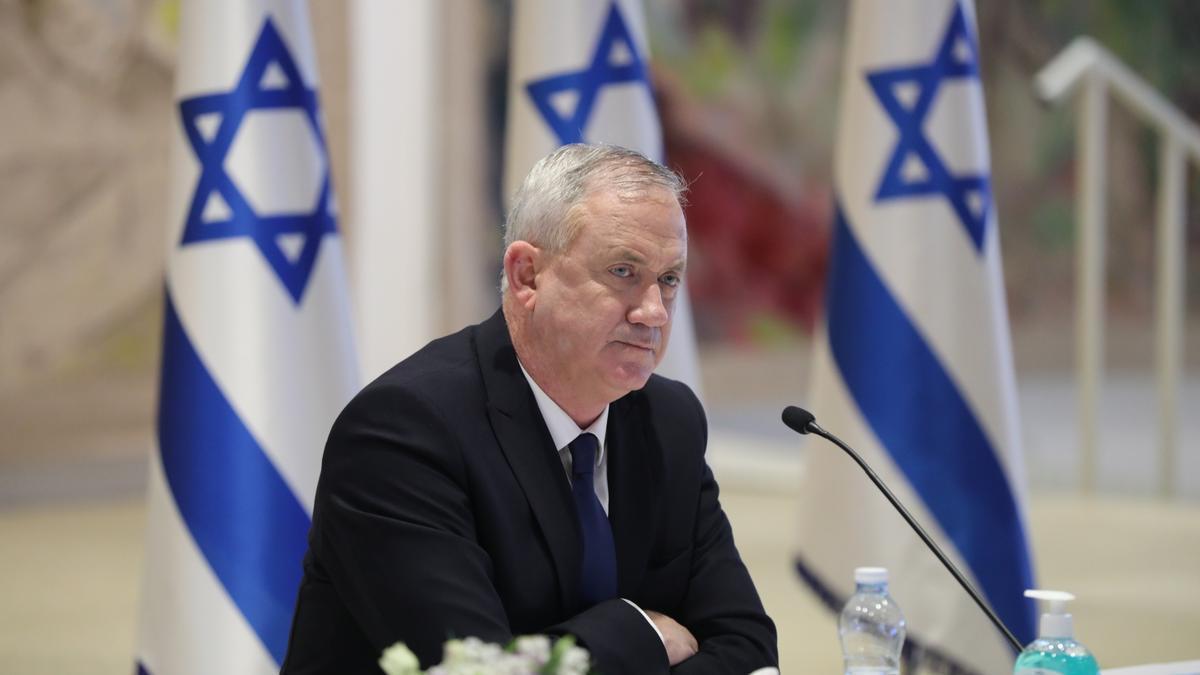 Benny Gantz, ministro de Defensa d Israel y principal socio de coalición de Benjamin Netanyahu