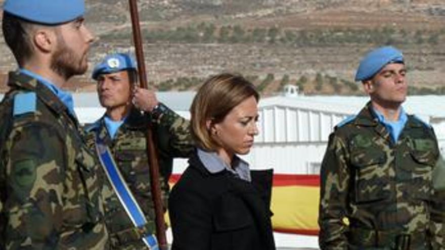 La ministra de defensa en el libano