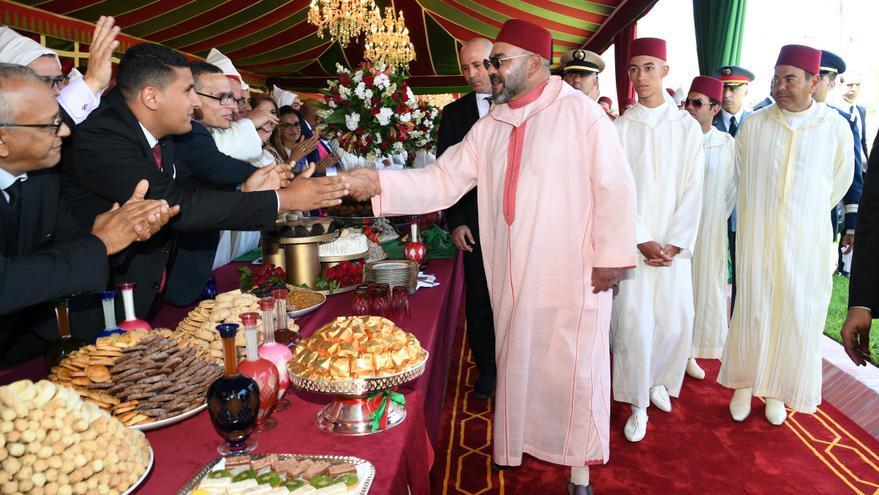 Mohamed VI en la celebración del 20º aniversario de su reinado en Tánger en 2019.