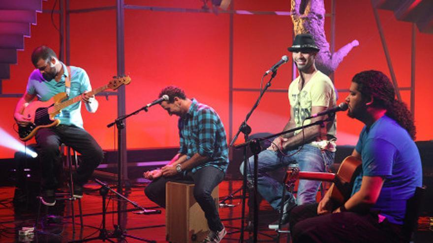 Imagen de archivo  del grupo 'Efecto Pasillo' en una de sus actuaciones. Foto: antena3.con