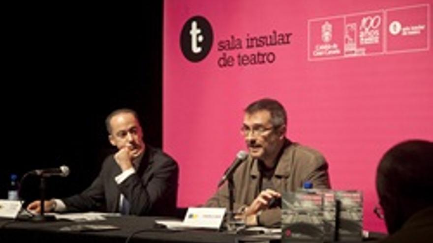 Larry Álvarez y Gonzalo Ubani durante la presentación.
