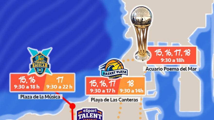 Todas las actividades, fechas y horarios de la Copa del Rey de Gran Canaria.