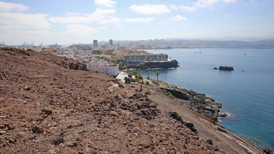 Vistas de Las Palmas de Gran Canaria desde el futuro mirador de La Isleta