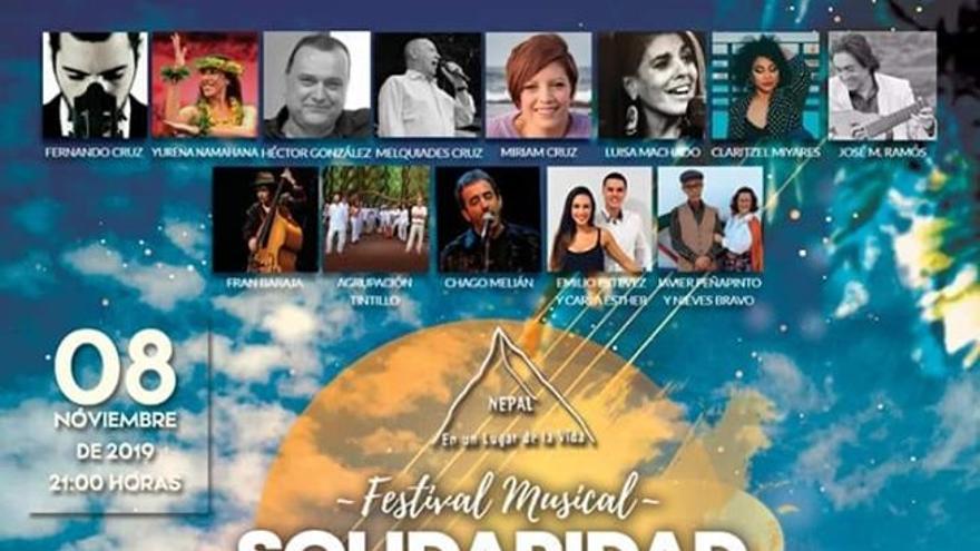 Cartel del acto 'Solidaridad con Nepal'