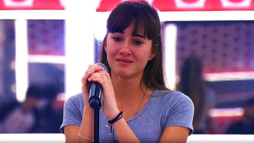 "Aitana en el pase de micros de la décima gala de ""OT"""