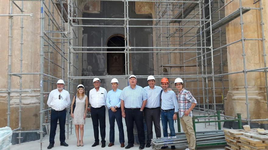 Francisco Bernabé junto a sus compañeros del Partido Popular en la visita a Lorca