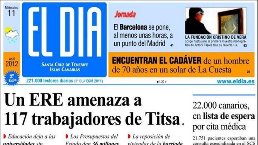 De las portadas del día (11/04/2012) #4