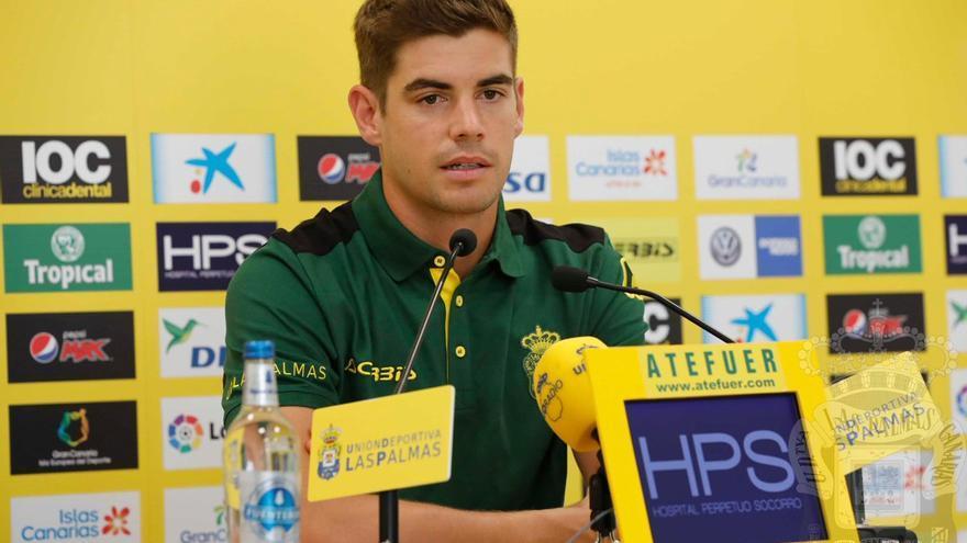 Raúl Fernández, portero de la UD Las Palmas.