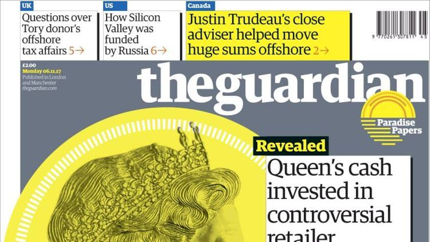 Portada de The Guardian de este lunes.