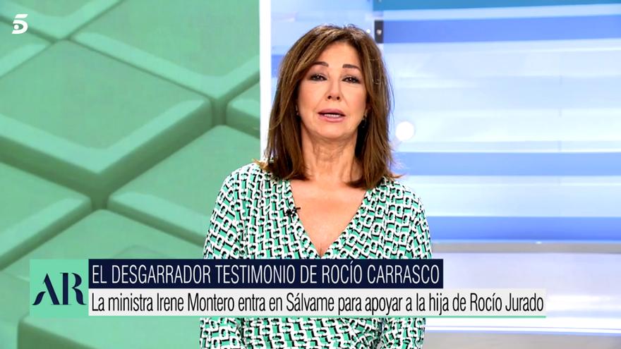 Ana Rosa critica a Irene Montero en 'El programa de AR'