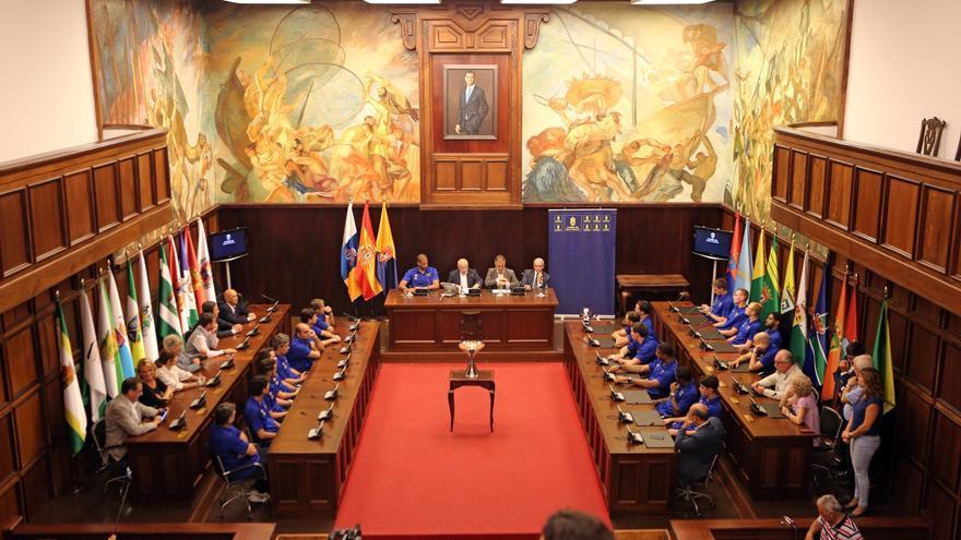 La Supercopa en el interior del Cabildo de Gran Canaria.
