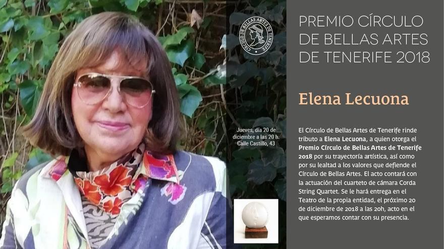 Elena Lecuona, en una foto servida por el Círculo de Bellas Artes