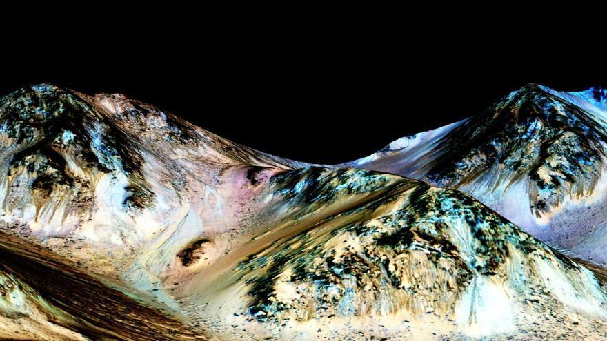 La NASA encuentra pruebas de que hay agua salada en la superficie de Marte