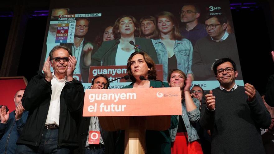 Ada Colau, tras saberse los resultados de las elecciones municipales
