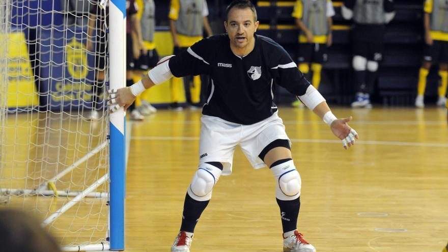 El guardamenta del Gran Canaria Fútbol Sala, Gustavo Pérez.