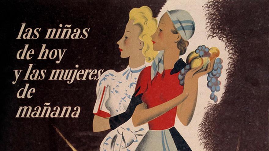 Cartel editado por las organizaciones juveniles del bando franquista.