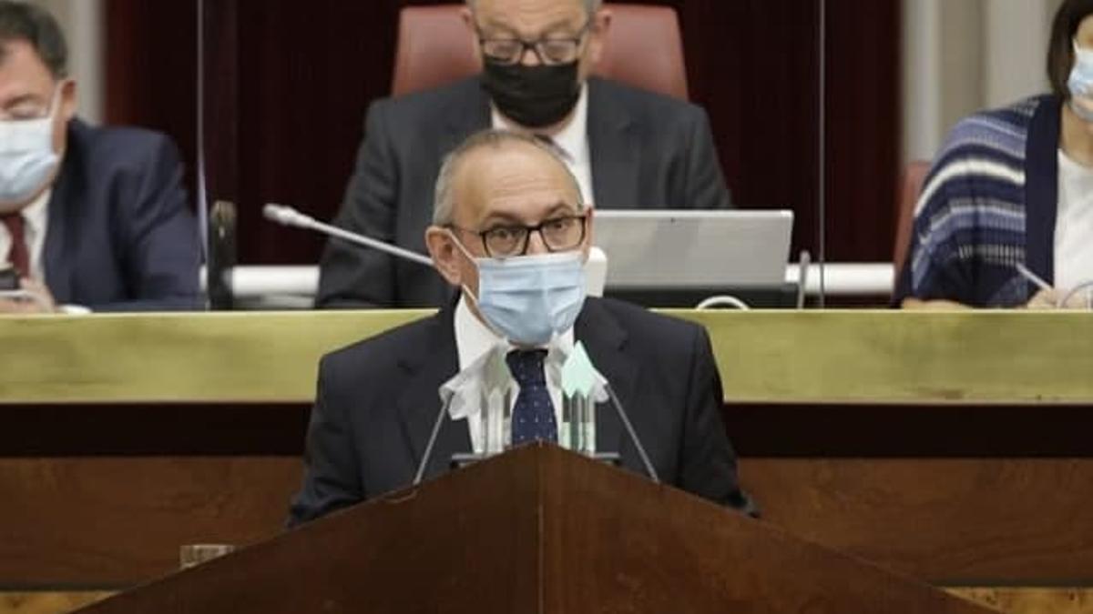 El diputado general, Ramiro González, este lunes en su intervención