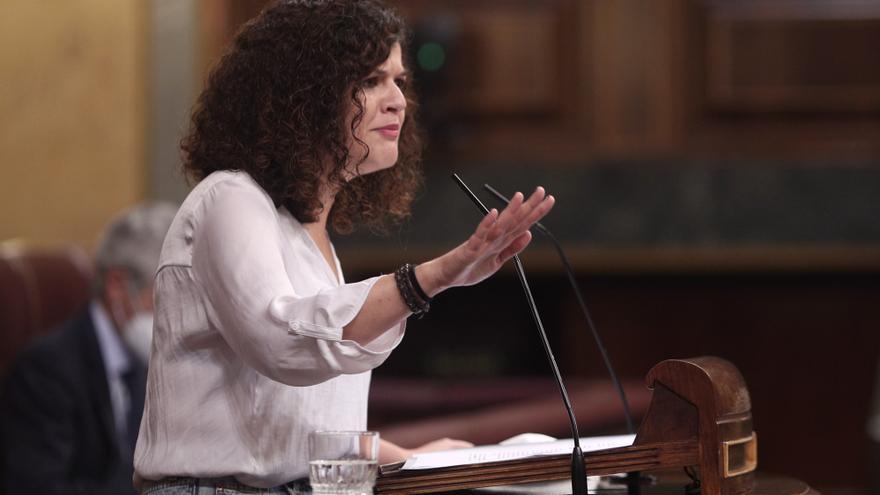 Archivo - La portavoz adjunta de Unidas Podemos en el Congreso, Sofía Castañón, interviene durante la segunda sesión del pleno en el que se debate la moción de censura planteada por Vox, en el Congreso de los Diputados, Madrid (España), a 22 de octubre de