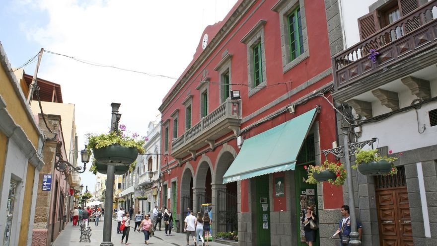 Vista de la calle Capitán Quesada de Gáldar