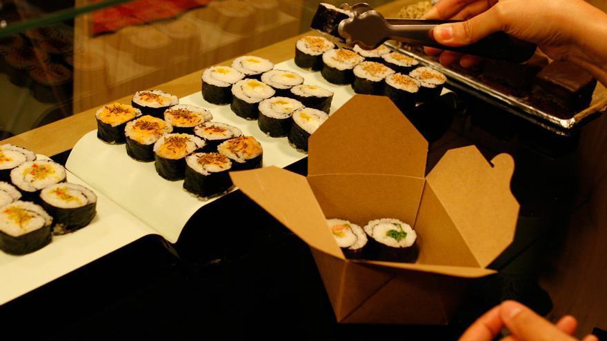 Sushi vegano. Foto: La Camelia